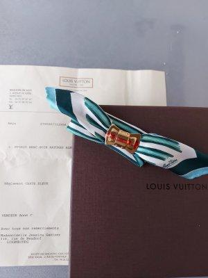 Original Louis Vuitton Armband Seide Soie Rayures bleu & Rechnung