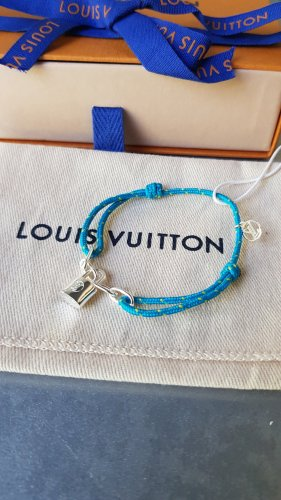 Louis Vuitton Bracelet argenté-bleu clair
