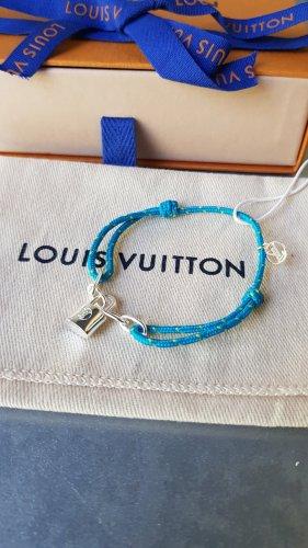 Original Louis Vuitton Armband Unicef Silver Lockit x Virgil Abloh blau & Box