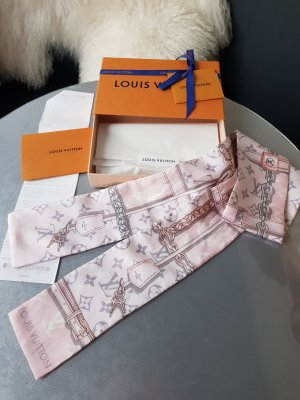 Louis Vuitton Foulard en soie rose clair