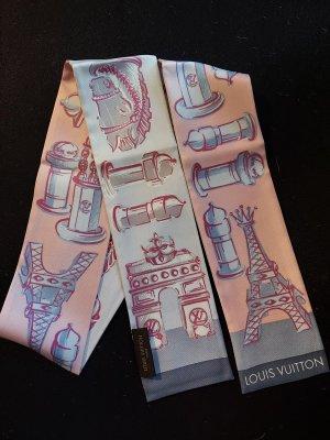 Original Louis Vuitton Bandeau Tuch 100% Seide NEU rosa grau