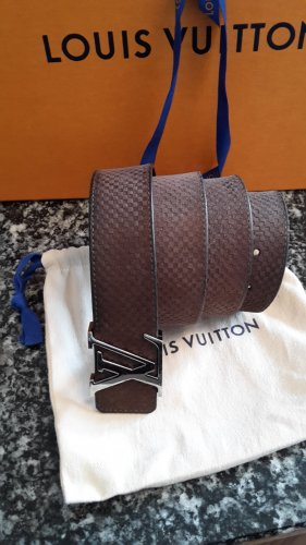 Louis Vuitton Cintura di pelle marrone Pelle