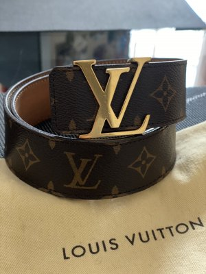 Louis Vuitton Cinturón de lona marrón