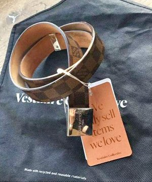Louis Vuitton Lederen riem veelkleurig