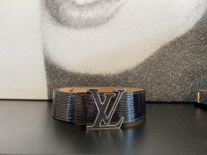 Louis Vuitton Cinturón de cuero negro-color plata Cuero