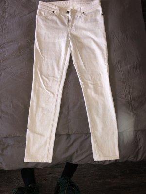 Original Louis Vuitton Jeans weiß Creme Low Waist Skinny 38