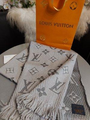 Original Louis Vuitton Logomania Schal perlgrau & Rechnung