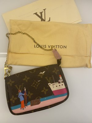 Louis Vuitton Pochette brown-gold-colored