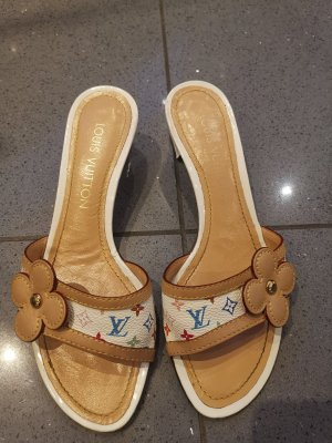 Original Louis Vuitton Monogram Pumps Sandalen bunt Gr 36