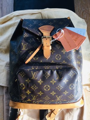 Original Louis Vuitton Montsouris Rucksack, Monogram Canvas.