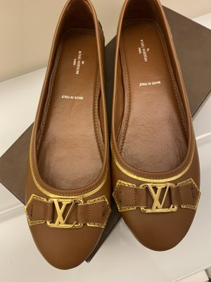 Original Louis Vuitton Oxford Ballerinas Schuhe braun 40