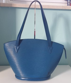 Original Louis Vuitton SAINT JACQUES SHOPPER GM BLAU EPI AS0946