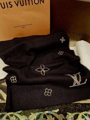 Louis Vuitton Sciarpa in cashmere nero-argento
