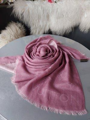 Original Louis Vuitton Schal Tuch Kaschmir Seide flieder rosa Kaschmirschal