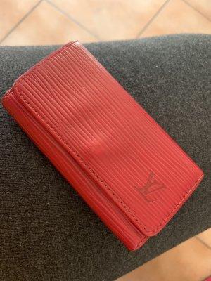 Louis Vuitton Key Case red-dark red leather
