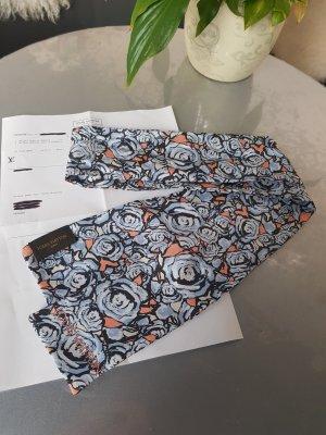 Louis Vuitton Foulard en soie blanc cassé-bleu soie