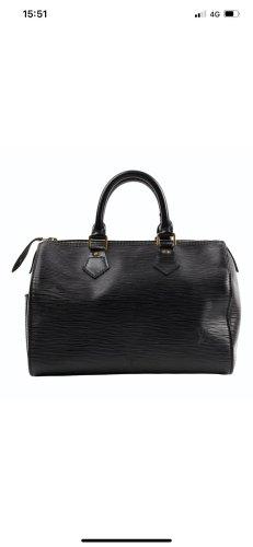Original Louis Vuitton Speedy 30 epi black mit Louis Vuitton Shoulder strap