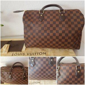 Original Louis Vuitton Speedy 35 Damier mit Rechnung