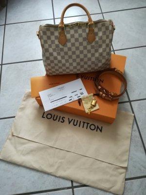 Original Louis Vuitton Speedy Bandouliere 30 Damier Azur