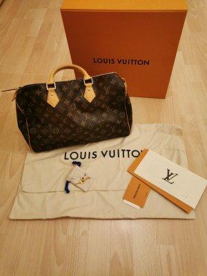 Louis Vuitton Handtas brons Leer