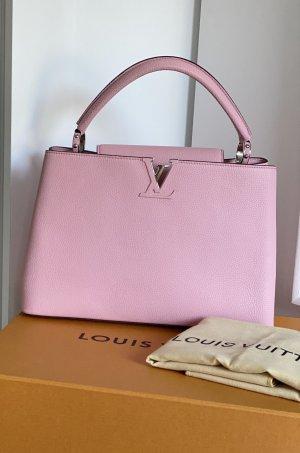 Original Louis Vuitton Tasche Capucines MM rosa magnolia
