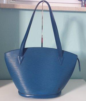 Original Louis Vuitton Tasche SAINT JACQUES SHOPPER GM BLAU EPI AS0946