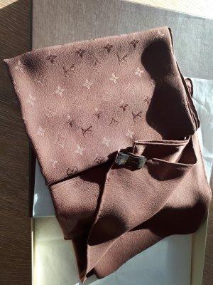 Original LOUIS VUITTON Tuch Monaco aus 100% Seide, 90x90cm, Monogam Muster, Farbe Chocolat, neu und ungetragen.