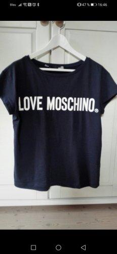 Love Moschino T-Shirt white-dark blue