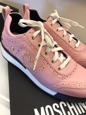 Original Love Moschino Sneaker Turnschuhe rosa Gold 40