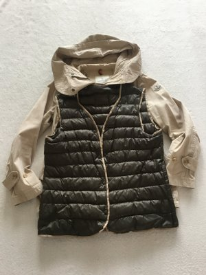 Moncler Giacca taglie forti beige Cotone