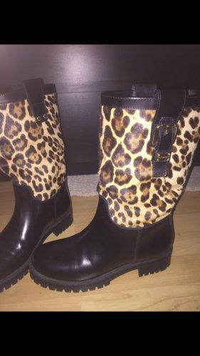 Dolce & Gabbana Halfhoge laarzen zwart-bruin