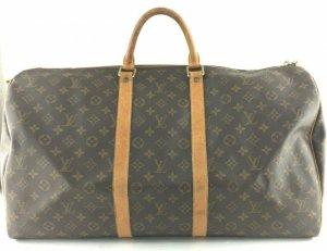 original LV Louis Vuitton Tasche Weekender Keepall 55 Monogram braun