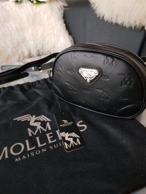 Original Maison Mollerus Tasche Gürteltasche NEU schwarz silber