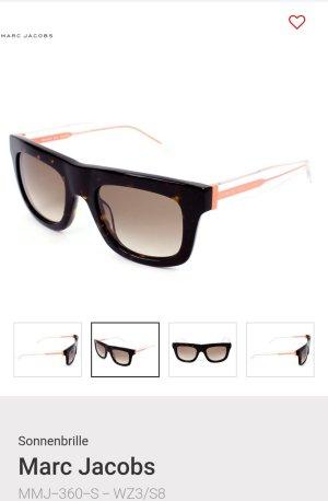 Marc Jacobs Hoekige zonnebril zwart bruin-abrikoos