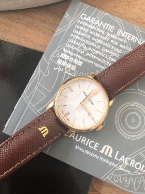 Maurice Lacroix Horloge met lederen riempje bruin