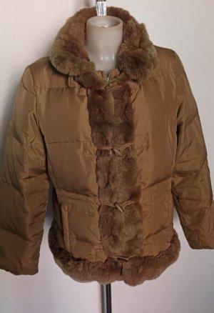 Original Max Mara Weekend Winterjacke Jacke warm Gr 42 Bronze Braun