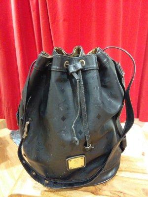 MCM Pouch Bag black mixture fibre
