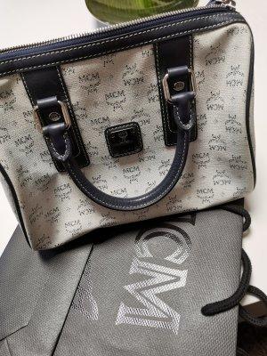 MCM Bolso blanco puro-azul oscuro