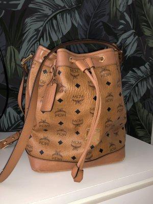 Original MCM Bucket Bag Heiritage Drawstring cognac