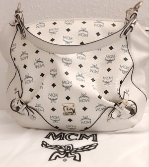 original mcm Handtasche hobo bag in weiß