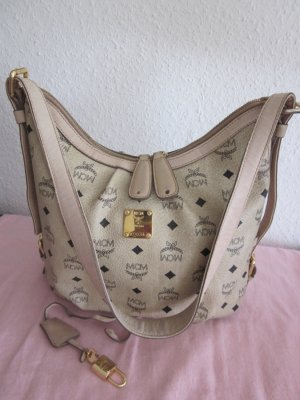 Original MCM Hobo Bag medium Ivory TOP!