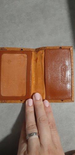 MCM Etui na karty brązowy-cognac