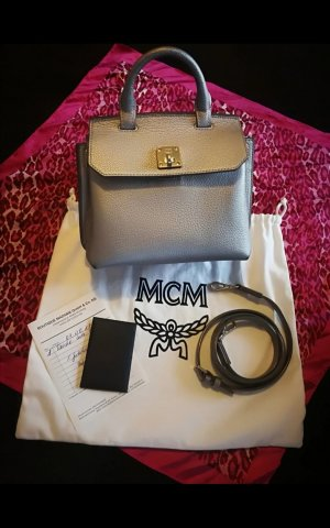MCM Carry Bag light pink-light grey leather