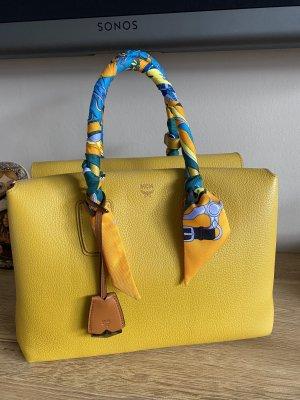 Original MCM Milla Tote Medium Gelb Yellow Luxus