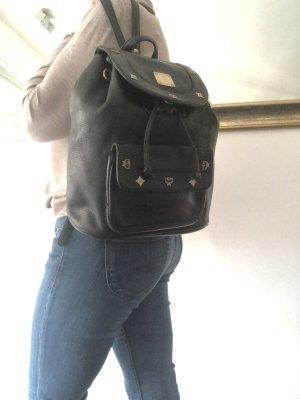 Original Mcm Rucksack Tasche Echt Leder