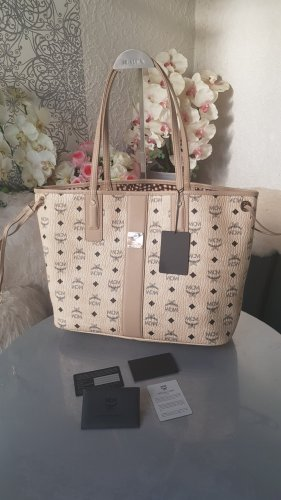 MCM Shopper gold-colored-oatmeal