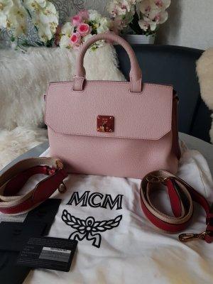 MCM Sac bandoulière rouge-rose clair