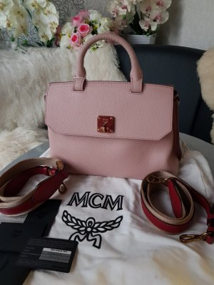 MCM Bandolera rojo-rosa claro