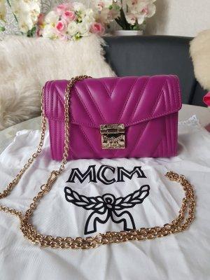 MCM Sac bandoulière doré-violet