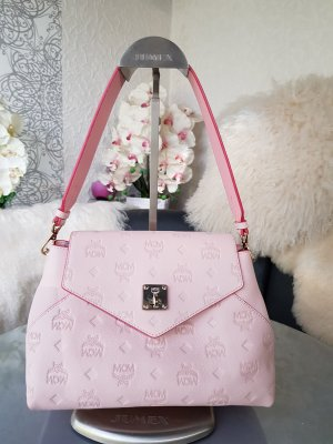 Original MCM Tasche Essential Bag rosa & Rechnung